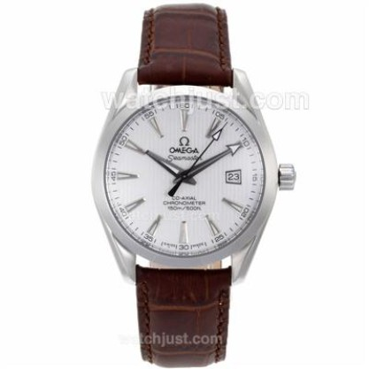 Good Quality UK Sale Omega Seamaster Automatic Fake Watch With White Dial For Men