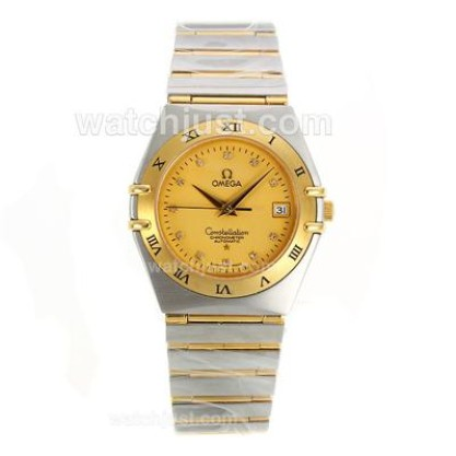 Best UK Sale Omega Constellation AutomaticFake Watch With Champagne Dial For Men