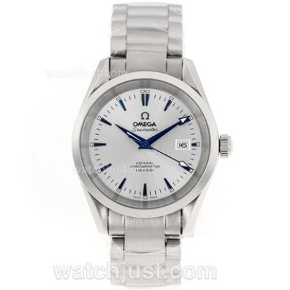 AAA Perfect UK Sale Omega Seamaster Automatic Replica Watch With White Dial For Men