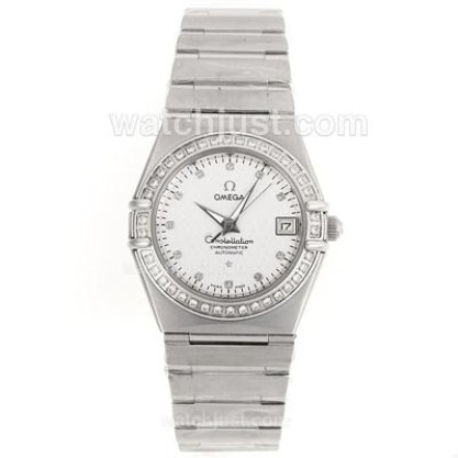Best UK Sale Omega Constellation Automatic Fake Watch With White Dial For Women