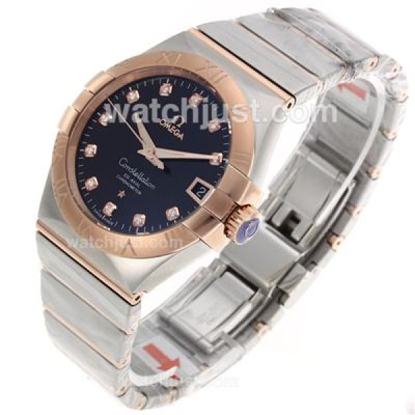 Best UK Sale Omega Constellation Automatic Fake Watch With Champagne Dial For Women