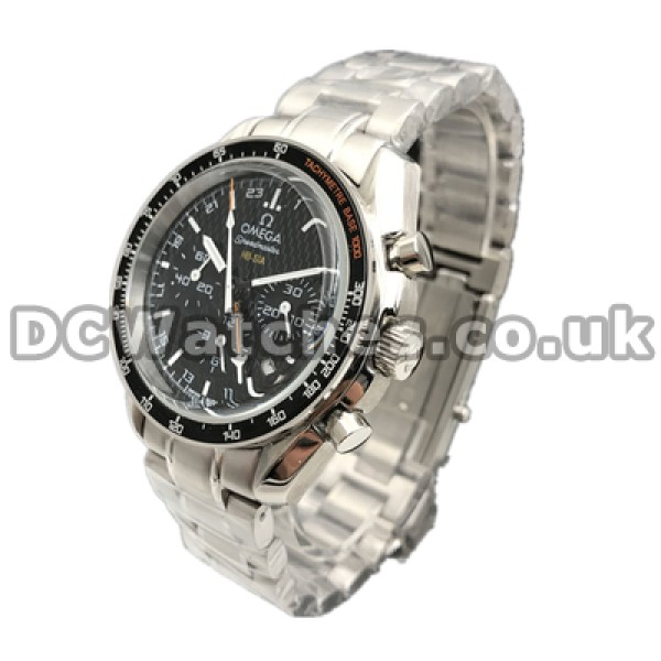 Practical UK Sale Omega Speedmaster Automatic Replica Watch With Black Dial For Men