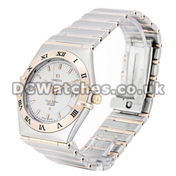 Best UK Sale Omega Constellation AutomaticFake Watch With White Dial For Women