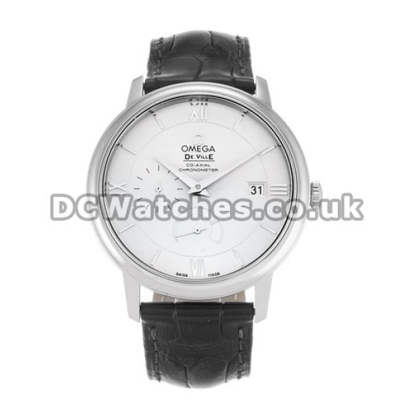 Perfect UK Sale OmegaDe VilleAutomatic Fake Watch With White Dial For Men