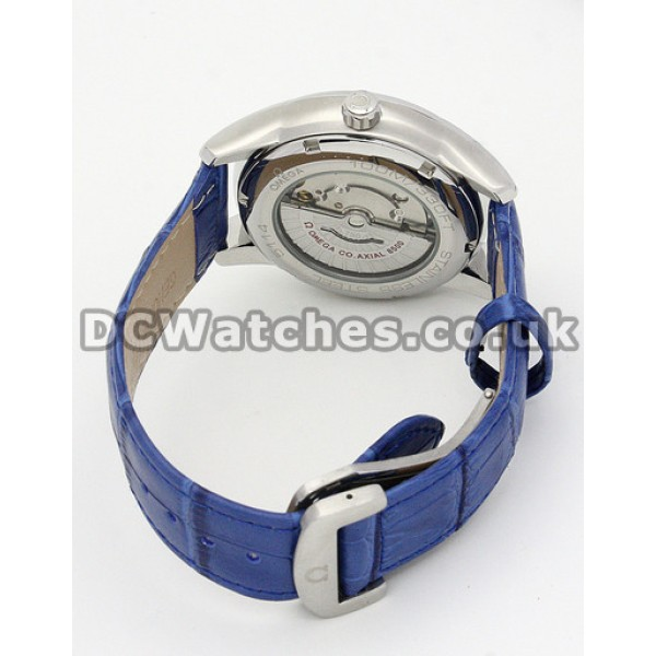 Best UK Sale Omega De Ville Automatic Fake Watch With Silvery Dial For Men