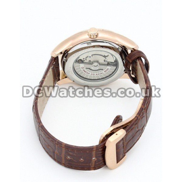 AAA Perfect UK Sale Omega De Ville Automatic Fake Watch With Brown Dial For Men