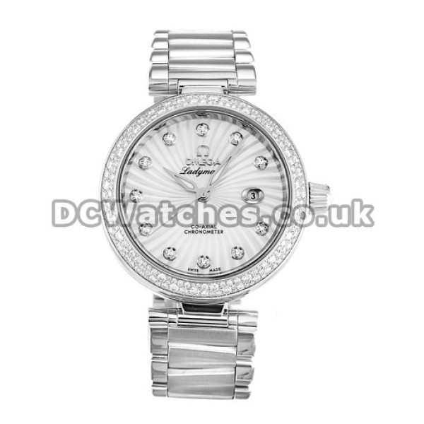 Best UK Sale Omega Ladymatic Automatic Replica Watch With White Dial For Women