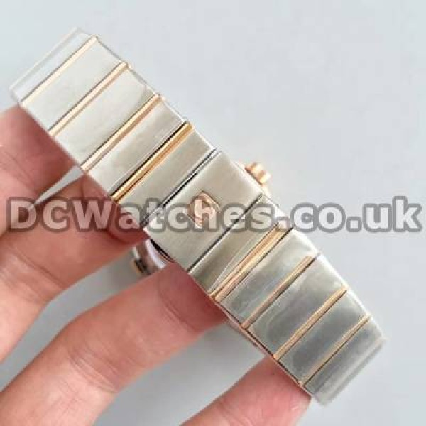 Quality UK Sale Omega Constellation Automatic Fake Watch With White Dial For Women