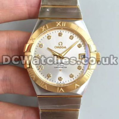 Best UK Sale Omega Constellation AutomaticFake Watch With Silvery Dial For Men