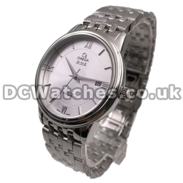 Cheap UK Sale Omega De Ville Automatic Fake Watch With Silvery Dial For Men