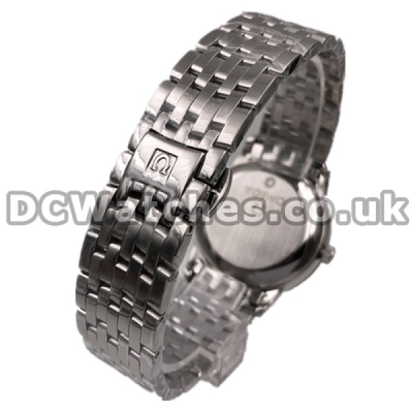 Cheap UK Sale Omega De Ville Automatic Replica Watch With Silvery Dial For Men