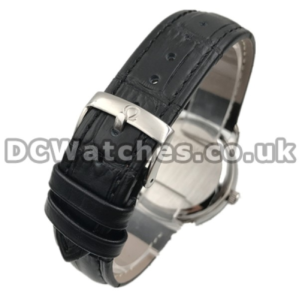 Practical UK Sale Omega De Ville Automatic Fake Watch With Black Dial For Men