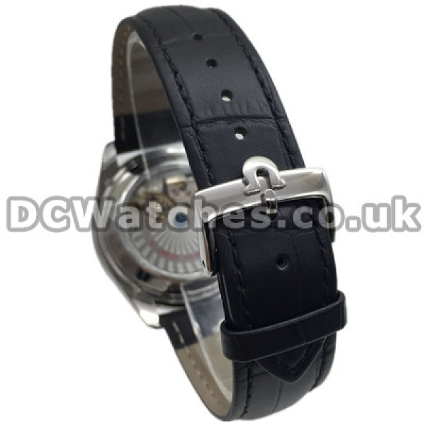 Best UK Sale Omega De Ville Automatic Replica Watch With White Dial For Men