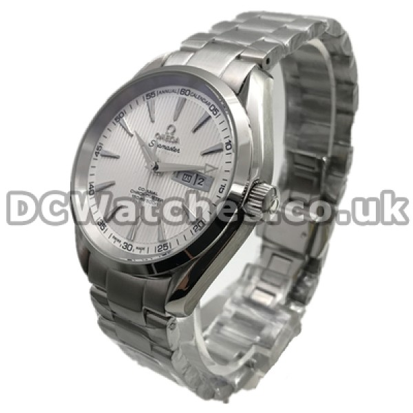 Waterproof UK Sale Omega Aqua Terra Automatic Replica Watch With White Dial For Men