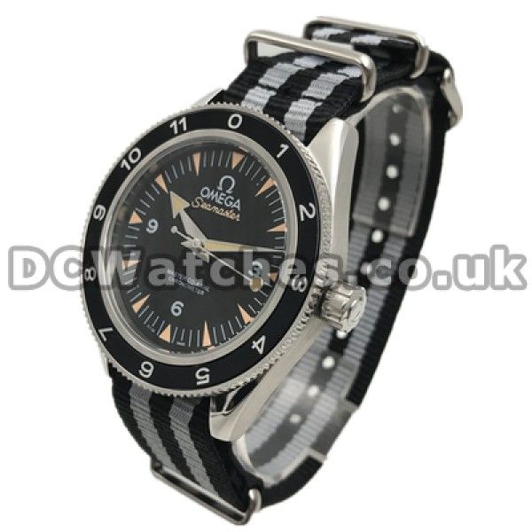 Perfect UK Sale Omega Seamaster Automatic Fake Watch With Black Dial For Men