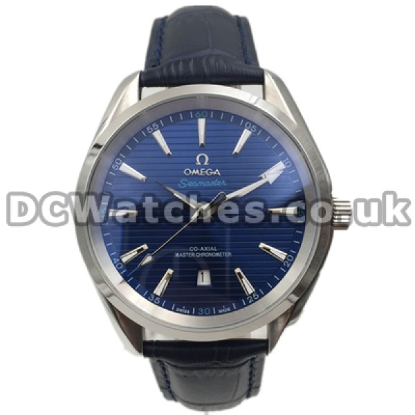 Quality UK Sale Omega Seamaster Automatic Fake Watch With Blue Dial For Men